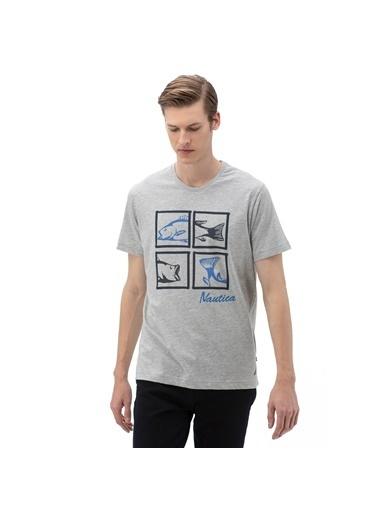 Nautica Tişört Gri